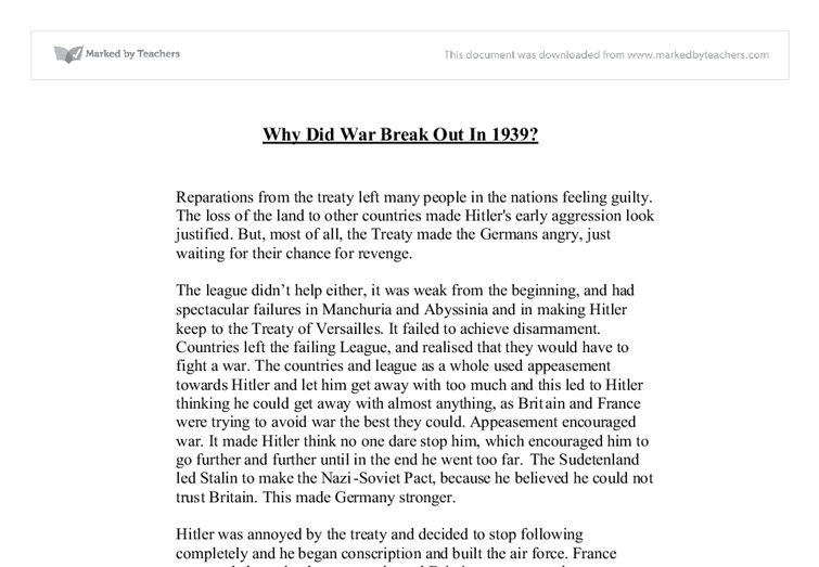 why germany lost the world war two essay The causes of world war 2 history essay  what were the causes of world war 2  after the end of world war i, germany saw the rise of adolf hitler and his .