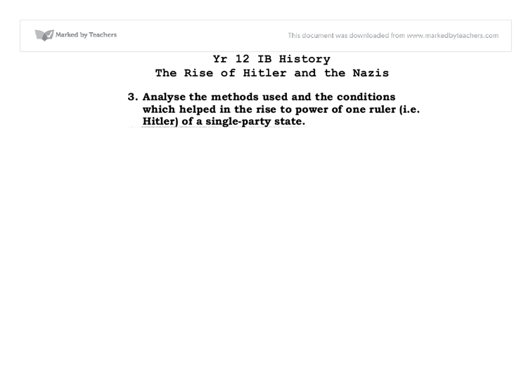 the attitudinal and economic factors that led to hitlers rise to power These studies center on understanding the factors as regarding how he achieved power so as to avoid any repeating of such dark events in the future rise of the adolf.