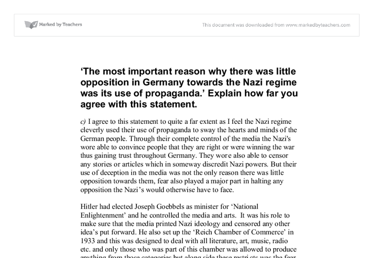 most important reason why there little opposition germany The german churches and the nazi state these were some of the reasons why most christians in germany welcomed the rise of yet throughout this period there was virtually no public opposition to antisemitism or any readiness by church leaders to publicly oppose the regime on the issues of.