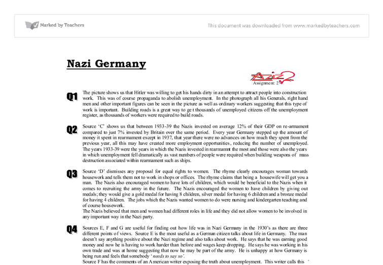 modern history germany essay questions