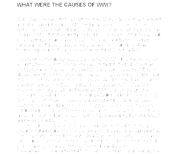 Essay on ww1