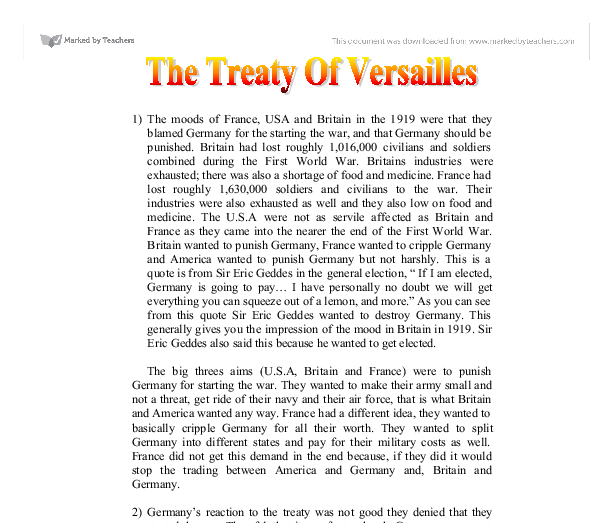 how the treaty of versailles effected germany Best answer: the treaty of versailles was signed in paris on the 28th june 1919 it affected people in germany for many.