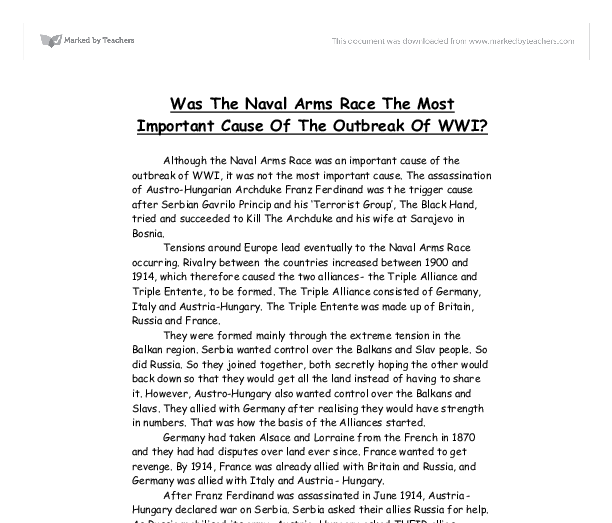 the arms race and the naval race essay An arms race, in its original usage, is a competition between two or more states to have the best armed forces each party competes to produce more weapons , larger military , superior military technology , etc in a technological escalation.