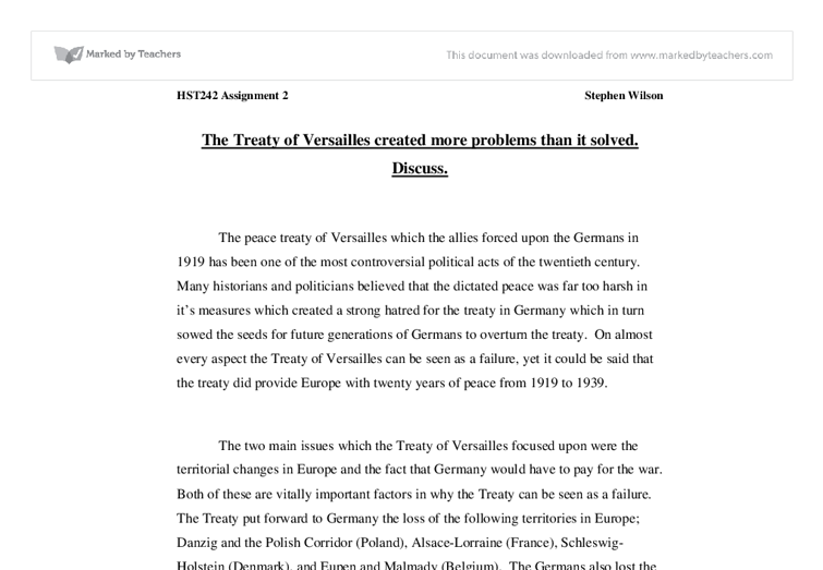 was the treaty of versailles fair essay Essay writing guide learn the art of brilliant essay writing with help from our teachers learn more maryam ahmad was the treaty of versailles fair.