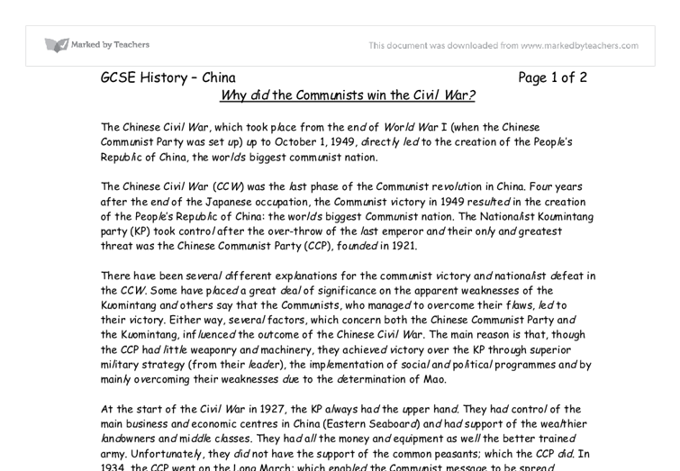 why did the ccp win the So, here is a brief history lesson of china and the party  with its 88 million  members, the ccp is involved in every aspect of chinese life, from schools to  factories,  a wound that won't go away: the story of daniel infante.