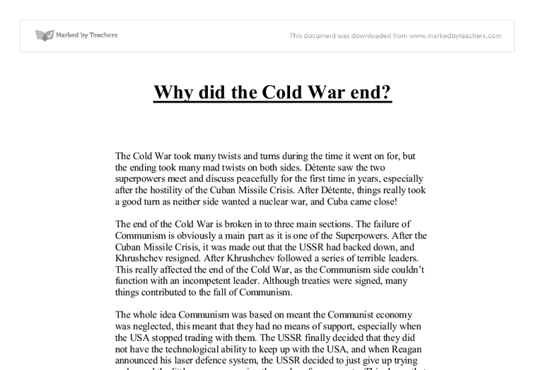 Essay on the Cold War: it's Origin, Causes and Phases