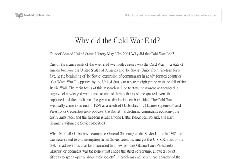 the end of the war is just the beginning essay Essays from bookrags provide great ideas for war essays and paper for some, it is just the beginning the war which is fought in the near the end of the.