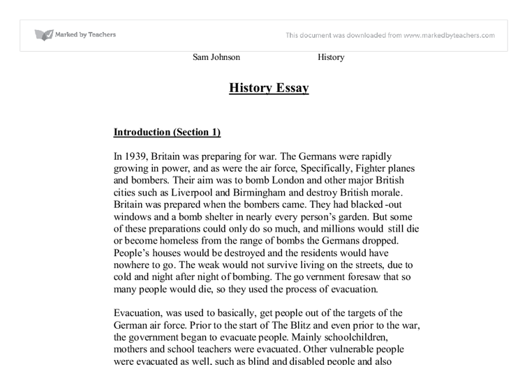 writing history essay level I really liked gcse history and because i got an a in it, i took it for as level however, i haven't really been adjusting well to the essay writing i do.