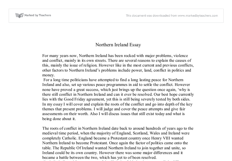 northern ireland essay