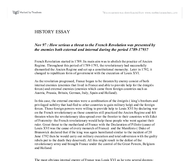 nov how serious athreat to the french revolution was  document image preview