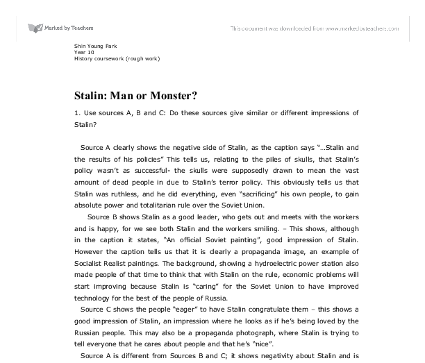 Stalin Man Or Monster Essay – 779659