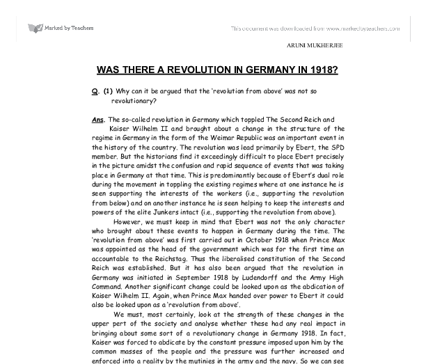 there revolution germany 1918 essay Free essays on causes of german revolution of 1848 'the german revolution of 1918 was purely a result of there are both precipitating and underline.