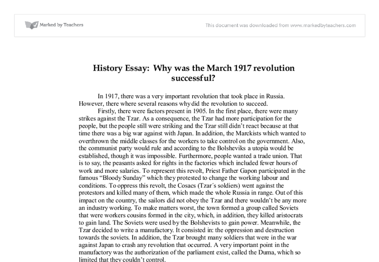 higher history russia essay Russia becoming more literate and politically aware society university students up 10x, daily newspapers up from 13 to 856 impossible to censor them all.