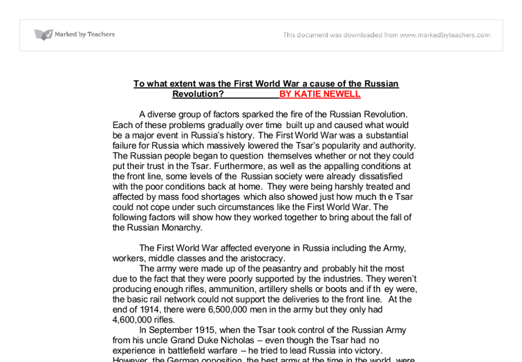 causes of the 1917 russian revolution essay Free essay on the russian revolution of 1917 available totally free at echeatcom, the largest free essay community.