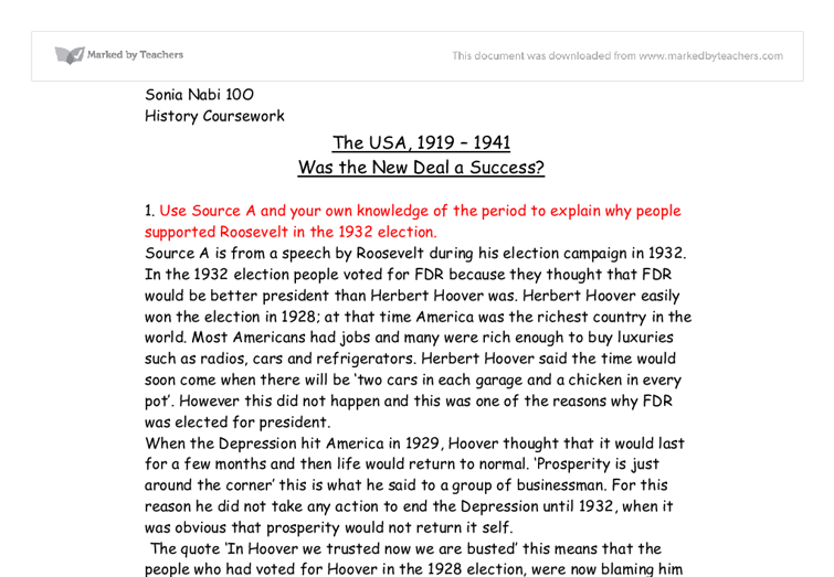 why people supported roosevelt in the 1932 election essay Franklin d roosevelt: franklin d roosevelt, 32nd president of the united states, who led the country through the great depression and world war ii.