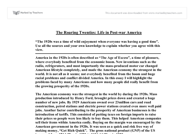 transforming twenties essay Transformation-of-sentences is done in various ways the nature of the sentences can be changed you can see how the transformation-of-sentences takes place into the following version without.