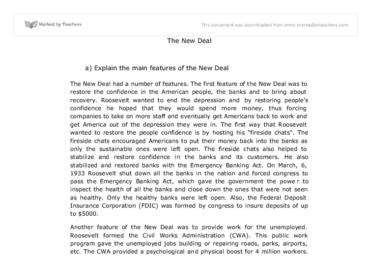 Us history new deal essay