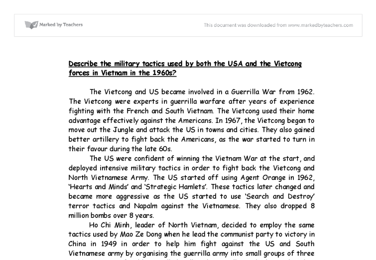 usa and vietcong forces in the 1960s essay Why did the united states get involved in the  administrations from 1950 through the 1960s into a firm  involved in the vietnam war essay sample.