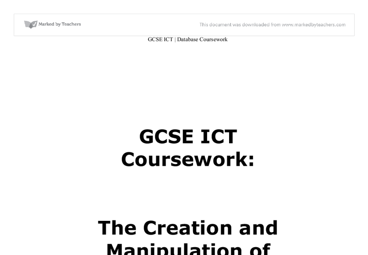 gcse ict word processing coursework Word processing ict gcse this website and its content is subject to our terms and conditions.