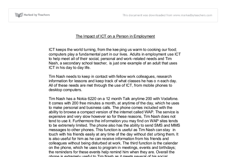 impact of ict on atms essay
