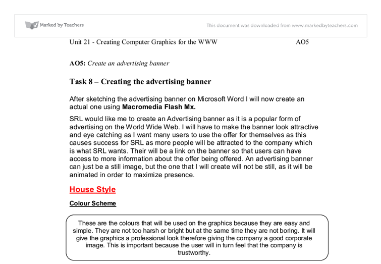 unit 21 task 1 Unit 21: website production  using the criteria and objectives that you developed in task 1, review your website  unit 21 assignment 2 year 13 2008doc author: debs.