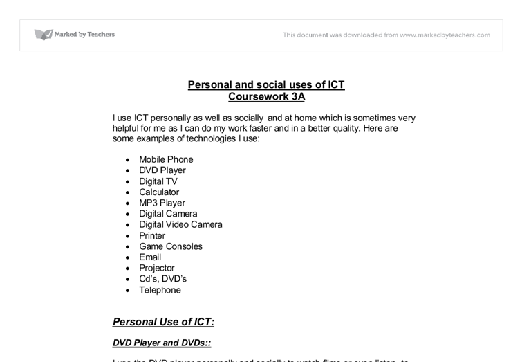 applied ict gcse coursework This title provides the underpinning knowledge for the course in an accessible and easy to navigate style it encourages the development of the skills required in ict.