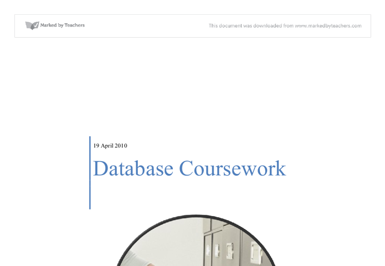 Ict database coursework help