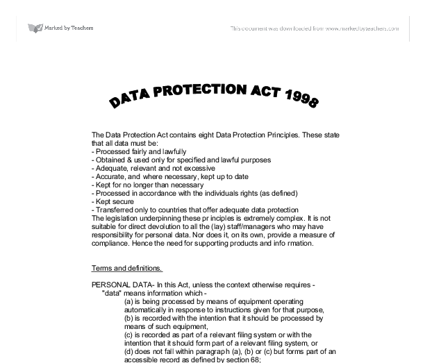 covering data protection and sharing essay