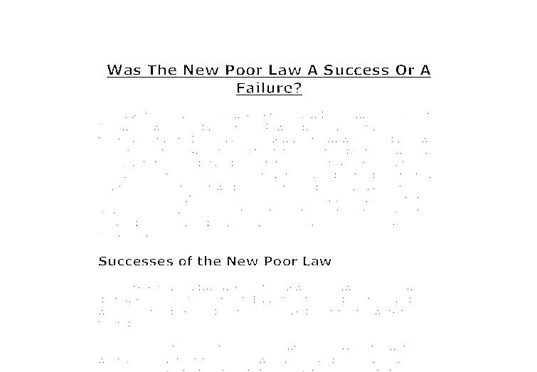 the new poor law goals and The official history website for the us social security administration.