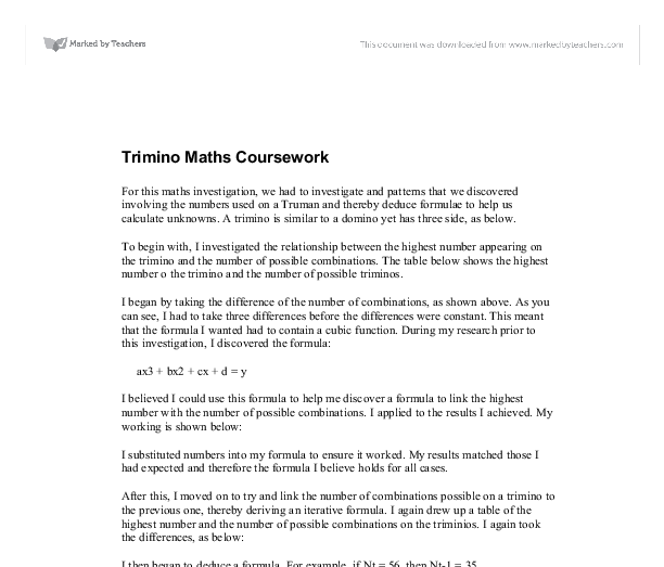 trimino maths coursework Create review for alexandra trimino from miami dade college (all.