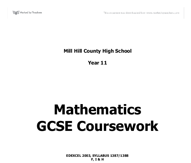 gcse science coursework mark scheme edexcel