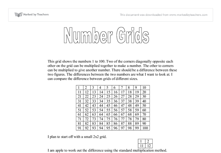 maths number grid gcse coursework Tutorials, tips and advice on algebra for gcse maths coursework and exams for students, parents and teachers.