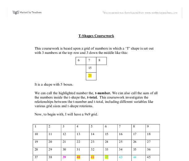 gcse coursework t totals Gcse maths coursework t totals work coursework presentations: topics by nbsp coursework assessment, drawing on the available literature strengths for validity include the ability to assess objectives that are difficult to test in written examinations,.