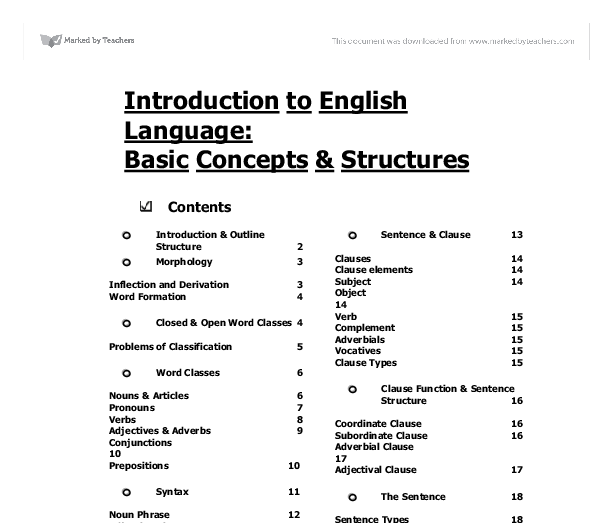 Introduction to English language  - GCSE Maths - Marked by Teachers com