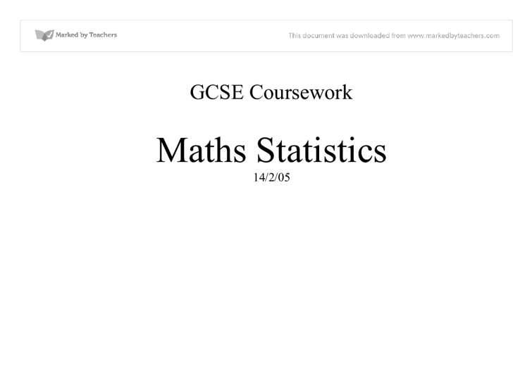 Gcse maths statistics coursework help