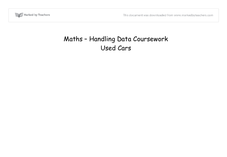 statistics coursework gcse maths