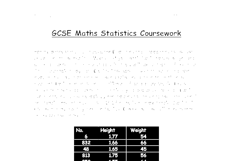 gcse handling data coursework help