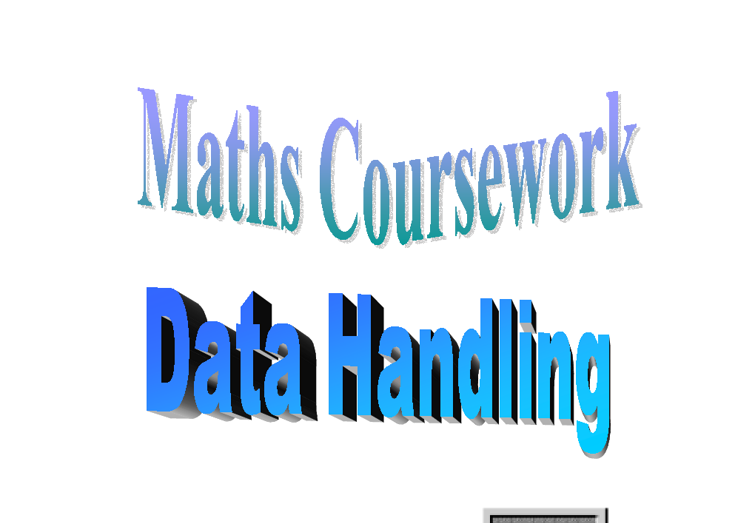 gcse maths data handling coursework