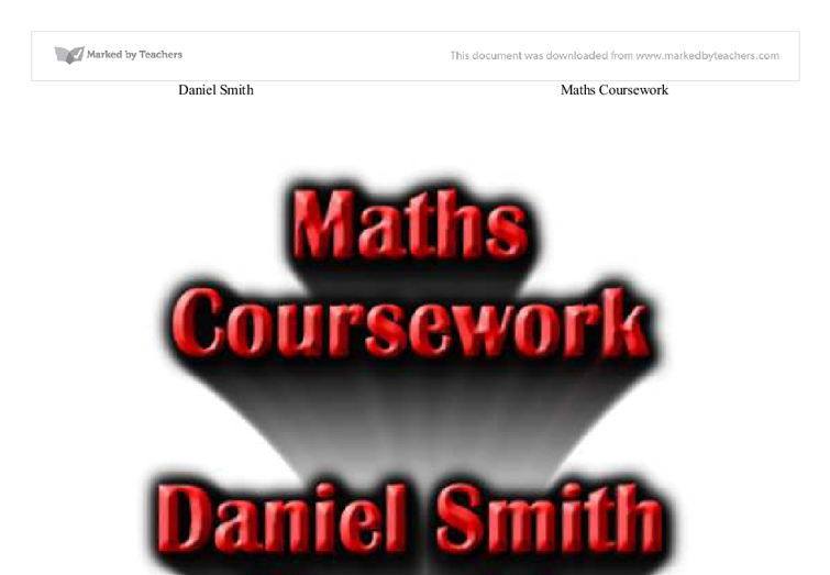 opposite corners maths coursework
