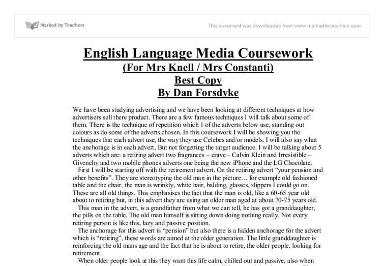 media studies as coursework evaluation