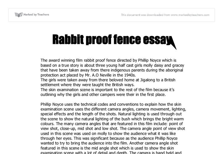Rabbit-Proof Fence Essays