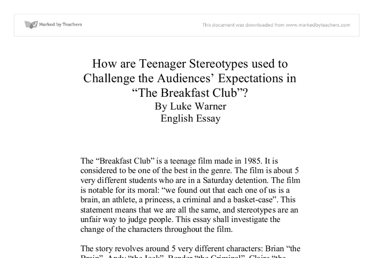 essay on stereotypes in movies