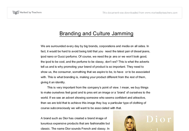 "culture jamming essay Culture jamming ""culture jamming"" is a phrase  watch the clip from jill sharpe's video culture jam in which culture jammers talk  order this essay here."