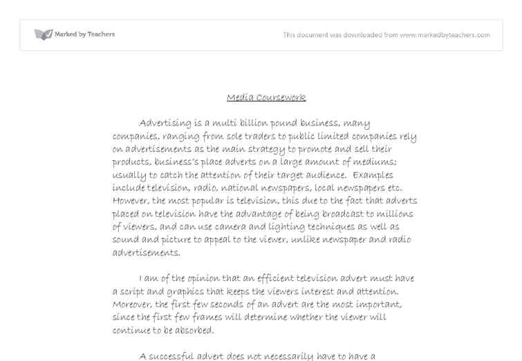 Advertising essay example