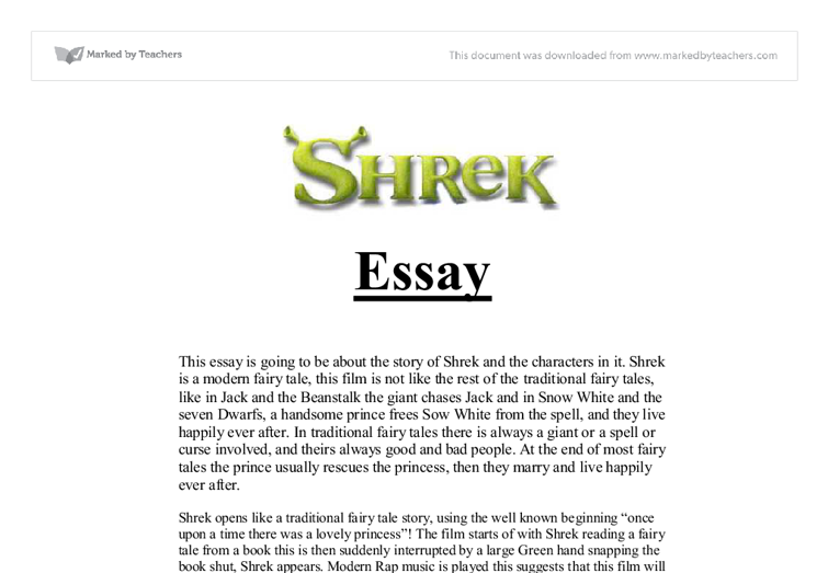 essays on shrek the movie Shrek is an enlightening shrek - movie review - for the healthy growing of a young mind (2004, july 08) in writeworkcom retrieved 08:06, january 29, 2018, from reviews of: shrek - movie review.