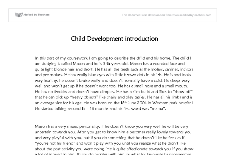 Child development essays