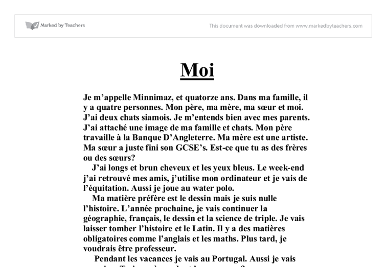 higher french essay Well, with the higher french exam coming up tomorrow i thought this would be a cool little resource for us to scrape together a couple of impressive phrase.