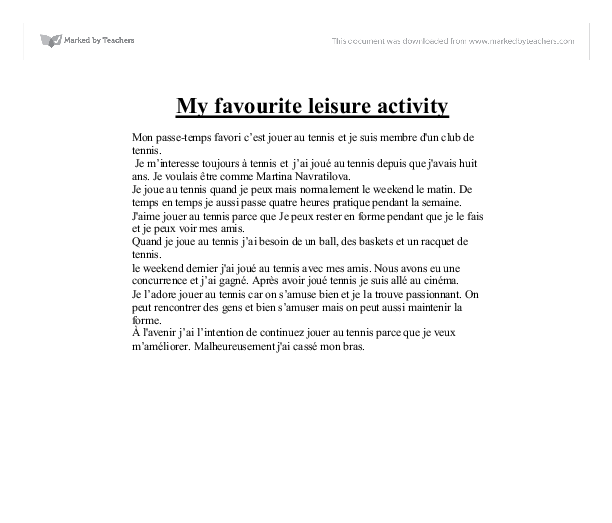 essay on my favorite teacher in french language Can anyone give me a good essay on the topic 'my favorite sport' in french language anal your teacher favorite sound of language, french.
