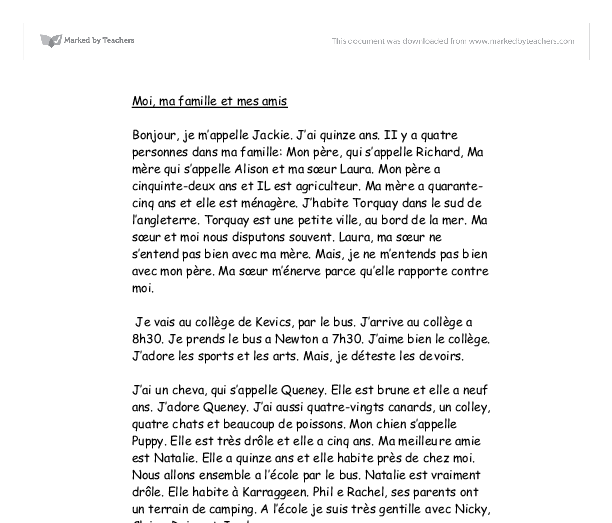 gcse french healthy lifestyle essay