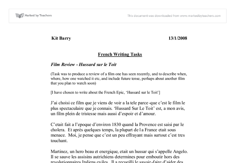 gcse french coursework on school The course will build on your existing skills of speaking, listening, reading and writing through the study of themes such as being a young person in the french speaking world, you will.